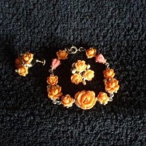 Jewelry - *Vintage* Bracelet & Earrings (screw back)